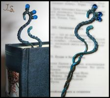Blue bird copper bookmark by JSjewelry