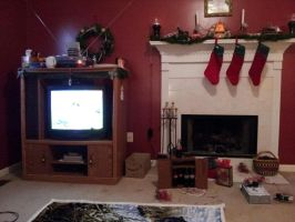 Watching TV Christmas Day 2013 by CrappyMSPaintArt