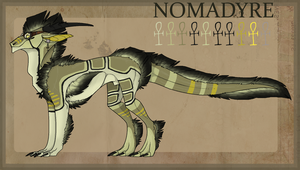Nomadyre Alabaster - Feral Reference by RukaSwift