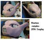 2014 Mewtwo Cosplay head -COMPLETE- by Myuutsufan