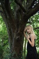 Girl by a tree by A68Stock