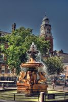 City Fountain HDR by nat1874