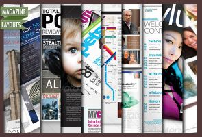 10 Full Magazine Layout Templates for InDesign by CursiveQ-Designs