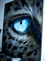 EYE OF A TIGER (OIL PAINTING) by LOULOUGSTP