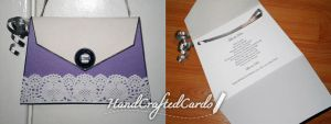 Purple Purse Birthday Card by HandCraftedCards