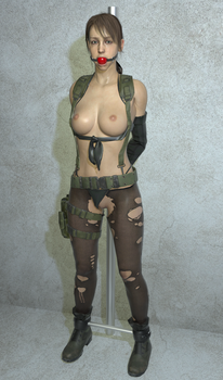 Quiet Bound Gagged and Exposed by VideoGameBondage