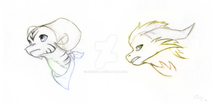 Guardians headshot sketches by Nordeva