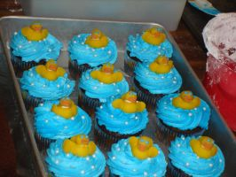 Ducky Cupcakes by EzmasFortune