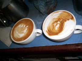 Two Flat Whites by jabberwock-hunter