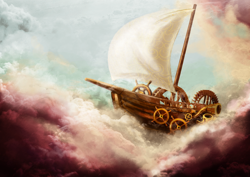 Steampunk Ship by songe-creux