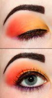 Peach eyeshadow by Creativemakeup
