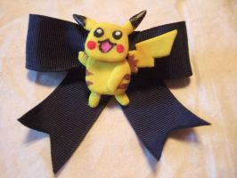 Pikachu Hairbow by taylor-of-the-phunk