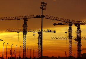 Construction at Sunrise by iPWNoobs