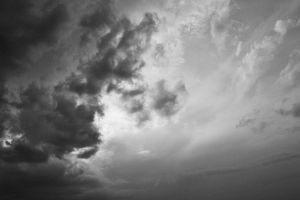 Black and White Sky III by cementine