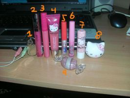 My LipGloss and LipBalms by Xiaolin101