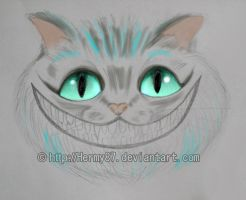 Cheshire cat sketch by Hermy87