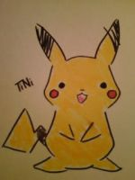 Pikachu Sketch by TiniSeo