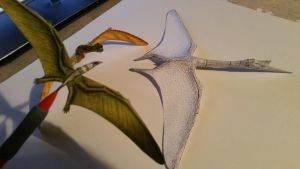 paper pterosaur galore by spinosaurus1