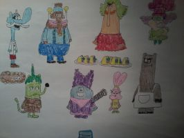 Chowder characters by AngeloCN