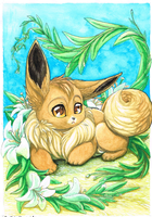 Mell the Eevee by OokamiNoTsubasa