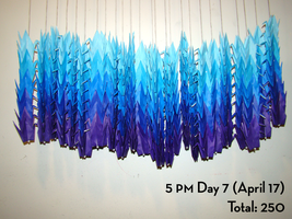 30 Days to 1000 - 250 Cranes by midori-no-ink