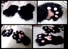 Black Cat Paws by CuriousCreatures