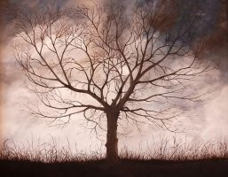 Solitary Tree by SilentEyes28
