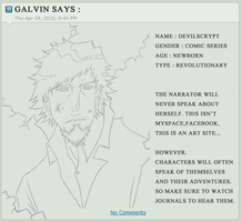 Galvin Speaks by DevilsCrypt