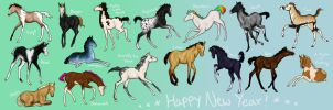 New Year Foals by Follyfoot