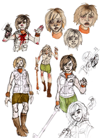 Heather Sketches by Rather-Drawn