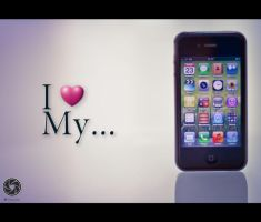 I Love My iPhone by Mfotografie