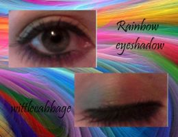 rainbow eyeshadow by wittlecabbage