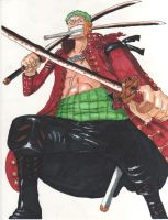 The Excellent Scene of Zoro (colored) by evaienna