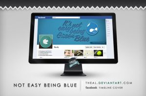 Not easy being blue Timeline Cover by TheAL