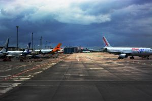 Airport and the Thunderstorm by Ruby-Lumiere