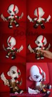 chibi Kratos plush version by Momoiro-Botan