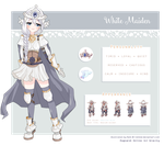 Ref. Sheet: White Maiden by marlying