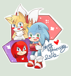 :Sonic: Happy Anniversary 25th Sonic the Hedgehog by Euraysia