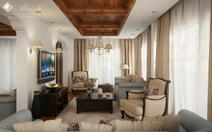 D villa ground floor living - second draft by kasrawy