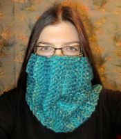 Blue Snood 2 by Lost-in-the-day