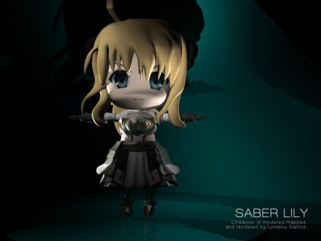 Saber Lily 3D by ispandsbob