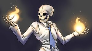 Skulduggery Pleasant - Fire by jameson9101322