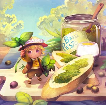 Basil pesto Fairy by Mushstone