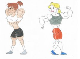 Muscle Women of Johnny Bravo 2 by TheFranksterChannel