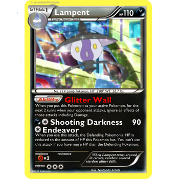Pokemon TCG: Dark Claws Lampent by selsy9882