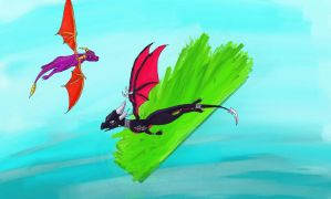 cynder and spyro :D by Lilac-The-Gerbil