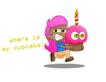 Molly with Chica's Cupcake by SuperSonicBros2012
