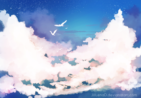Clouds by JillLenaD