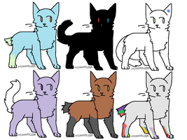 cat adoptables (very cheap!) by Equinoxthealicorn