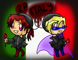 2P!Chibi Veneziano and Romano by SkyWarriorKirby